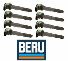 Porsche Cayenne S T Ignition Coil with Spark Plug Conector Set of 8 OEM BERU New
