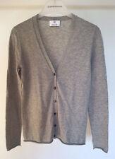 Damen Pullover Jacke Strickjacke Gr. S von ALLUDE 30% Cashmere hellgrau