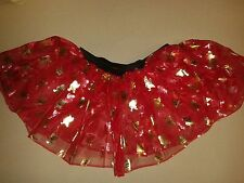 Ref Father Christmas -Girls Red Tutu Skirt Hen Night/Party/Halloween 6-16