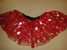 Ref Father Christmas -Girls Red Tutu Skirt Hen Night/Party/Halloween 6-16