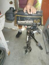 3 HP Sears Gamefisher Outboard Motor 1980`s Runs