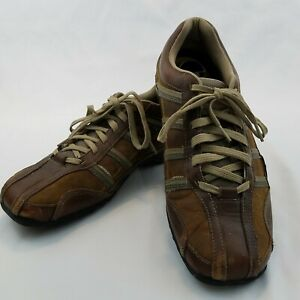 Sketchers Men's Brown Leather Lace Up Oxford Sneakers 60449 US 12