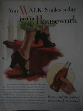 1933 Coca Cola Soda Walk 8 Miles Day in Housework Womens Shoes Original Ad