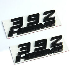 2x 392 HEMI Emblem Badge decal 3D for Dodge Challenger Chrysle Glossy Black  Fu