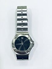 Movado 84 E1 837.2 Museum Black Dial Stainless Steel Ladies Watch