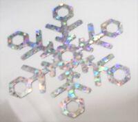 3 x FLOCON - ETOILE DE NEIGE  HOLOGRAPHIQUE thermocollant hotfix 4.5cm