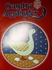 1984 Designs By Gloria & Pat Country Appliques Volume 1 Cross Stitch Book#25(Cm)