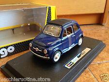 BBURAGO BURAGO FIAT 500 F 1965 DANTE GIACOSA L R 1/24 LUPIN III BLU BLUE AZUL