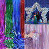 1/2/3/4M Glitter Laser Metallic Tinsel Foil Backdrop Curtains Party Xmas Decor