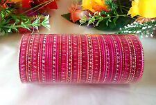 Indian Bollywood 48pcs Pink Colored fashion Bridal Bangles Set Jewelry 2.8.