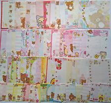 Rilakkuma Kawaii Memo Note Stationery San-X SanX Lot of 75 Loose Sheets