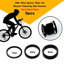 5pcs Alloy Bike Chainring Bolts Shim Spacer 1mm 2mm 3mm For Bicycle Chainwheel