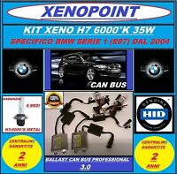 KIT XENON XENO H7 SLIM CANBUS 12V_35W 6000K AC BMW SERIE 1 E87 PROFESSIONAL 3.0