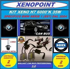 KIT XENON XENO H7 SLIM CANBUS 12V 35W 6000K AC BMW SERIE 1 E87 PROFESSIONAL 3.0/