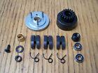 HPI Savage X 4.6 17T M1 Clutch Bell Flywheel Pilot Nut Bearing 3 Shoes & Springs