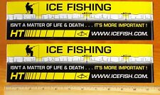 Two Icefishing Stickers Decals Ice Fishing Ht Enterprises Wisconsin Fisherman