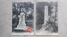 Lot 2 CPA 70 Haute-Saône Gray Monument Signard + Monument commémoratif 1870-71