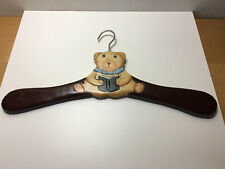 Used - WOODEN CLOTHES HANGER  COLGADOR PARA ROPA DE MADERA - Bear - For Children