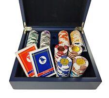 Caja De Póker 2 Cubiertas+200 Fichas Clay Clasificados 14,5 Gr Marca Dal Negro