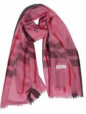 Lady Women Blanket Oversized Tartan Scarf Wrap Shawl Plaid Cozy Pashmina,Pink