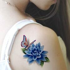 *3D Temporary Tattoos Butterfly Flowers Makeup Waterproof Tatoo Women Stickers