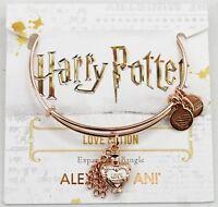 New Alex And Ani Harry Potter Love Potion Adjustable Rose Gold Bangle Bracelet