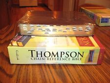 KJV Thompson Chain-Reference Burgundy Genuine Leather Bible, Indexed, SALE