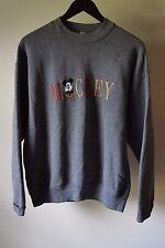 VTG Disney & Co Gray Cuffed Sleeve Neutral Mickey Sweater sz L