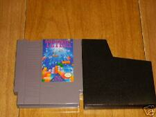 TETRIS ORIGINAL CLASSIC NINTENDO NES PUZZLE VIDEO GAME WITH SLIP DUST COVER 1989