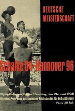 REPRINT Programm Deutsche Meisterschaft 1938: Schalke 04 - Hannover 96 REPRINT