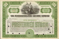 Pennsylvania Ohio Electric Company > stock certificate