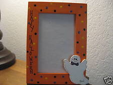 HAPPY HALLOWEEN - holiday ghost photo picture frame