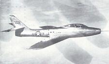 Republic F-84F Thunderjet USAF  Black & White  Postcard 5113