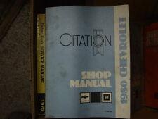 1980 CHEVROLET CITATION shop manual service manual, atelier manuel GM