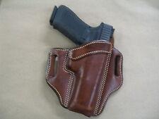 Glock 17, 22, 31 OWB Leather 2 Slot Molded Pancake Belt Holster CCW TAN RH