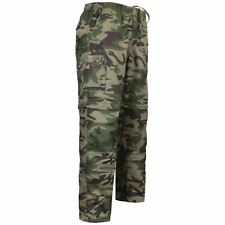 MENS 3 IN 1 ZIP OFF CAMOUFLAGE TROUSERS ARMY COMBAT CARGO SHORTS WORK PANT S-3XL