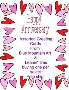 ANNVERSARY Greeting Cards-- 23 variations