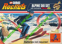 Corgi Rockets James Bond Alpine Ski Set Vintage A4 Size Poster Sign Leaflet 1970