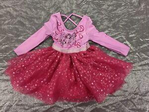Disney Store Princess Ballerina Dance Pink Leotard Tutu GirlsSize 2T