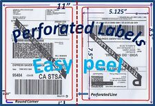 200 Perforated Rounded Corner Shipping Labels 2 Per Sheet-8.5 x 11-Self Adhesive