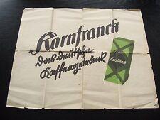 alte Landkarte Deutschland um 1930 mit Werbung Kornfranck Kaffee