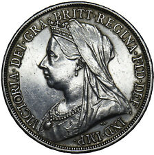 More details for 1893 lvi crown - victoria british silver coin - nice