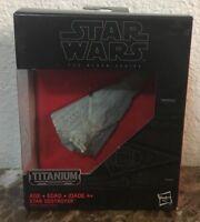 Star Wars Titanium Series Model #24 Star Destroyer & Stand In Original Box