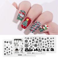 Christmas Nail Stamping Plates Nail Art Stamp Template Image Plate Stencil DIY