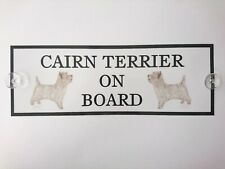 Cairn Terrier On Board Car Sign