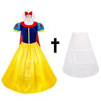 Adult Snow White Princess Fancy Dress Halloween Costume Fairy Tale Storybook