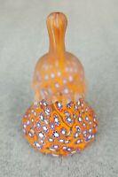 Vintage Italian Art Glass Murano Italy Millifiori Bell Satin Glass Top - BEAUTY