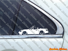 2x Lowered car outline stickers - for Mazda MX5 / Miata NB (facelift) JDM