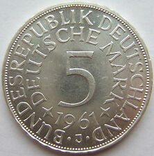 RARITÄT! 5 DM 1961 J in fast STEMPELGLANZ SELTEN !!!