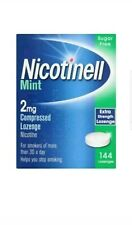 NICOTINELL MINT 2MG COMPRESSED LOZENGE 144 COUNT SUGAR FREE